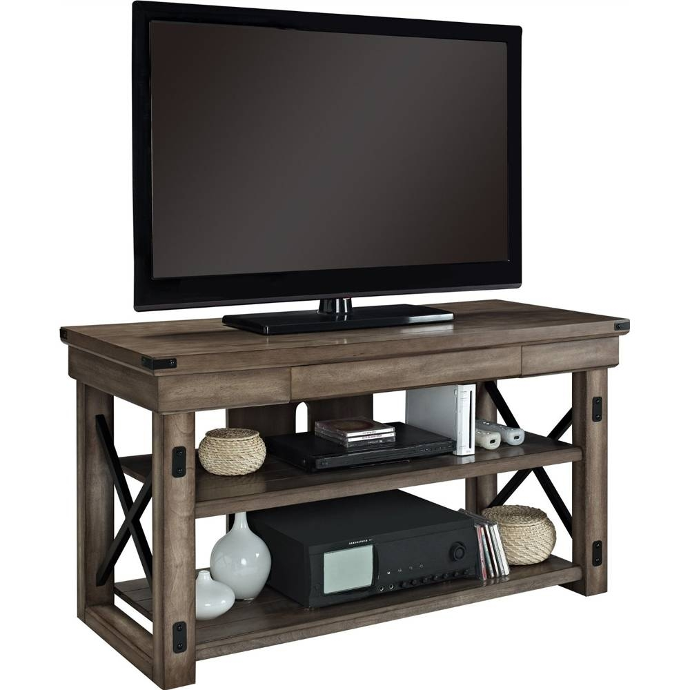 Rustic Wood Tv Stand In Tv Stands Within Wooden Tv Stands (View 11 of 15)