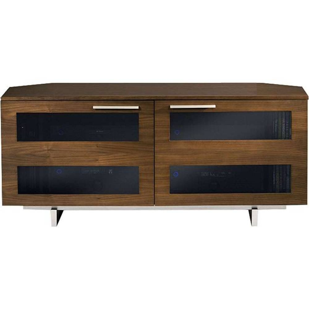 Rustic Wooden Media Flat Panel Tv Stand Table Unit With Walnut Corner Tv Stands (View 8 of 15)