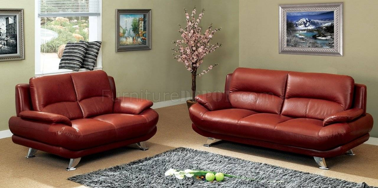 S282-Dr Sofa In Dark Red Leatherpantek W/options inside Dark Red Leather Sofas (Image 15 of 15)