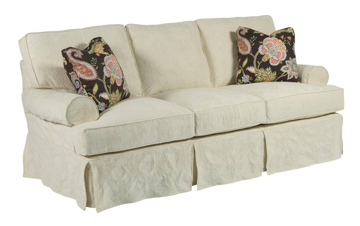 Samantha Three Seat Sofa With Slipcover Tailoring & Loose Pillow inside Loose Pillow Back Sofas (Image 9 of 15)