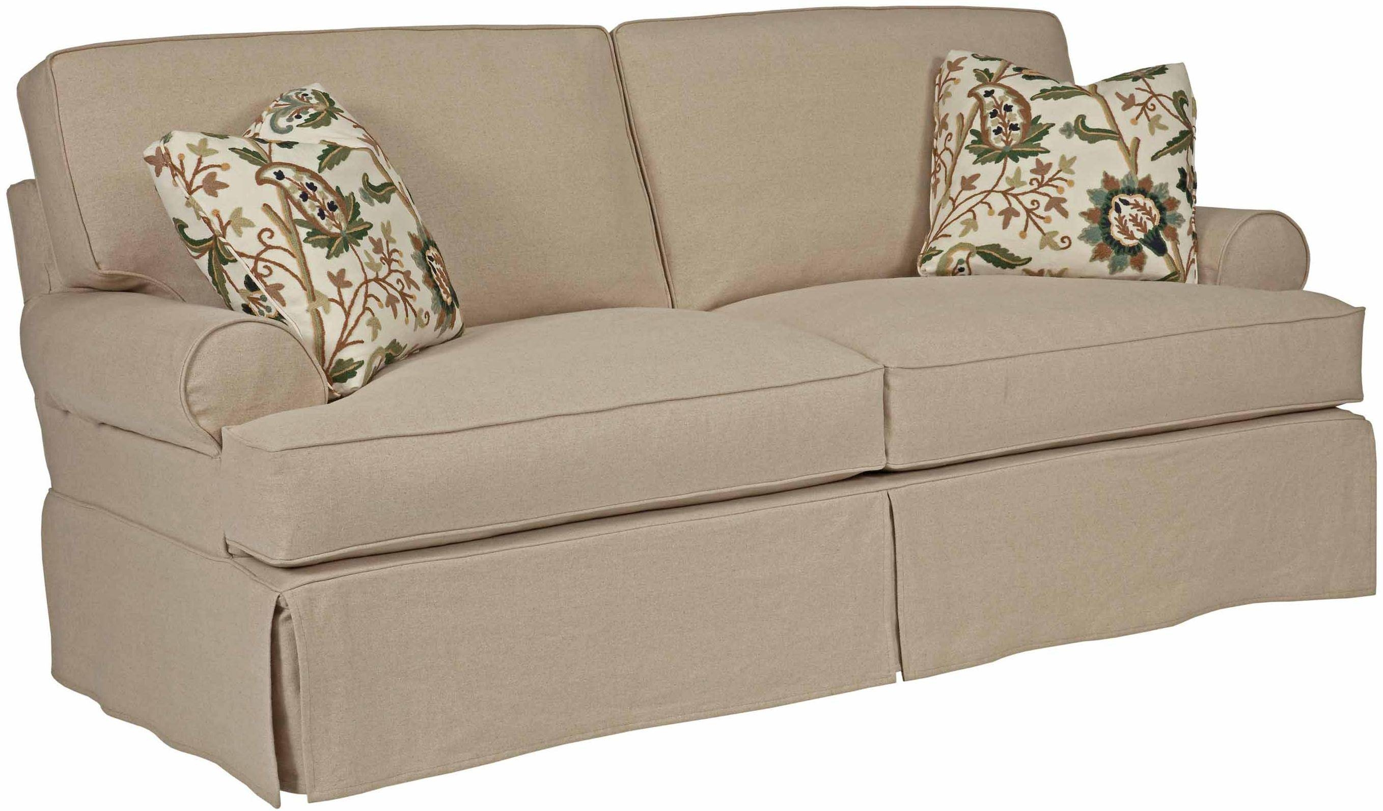Samantha Two Seat Sofa With Slipcover Tailoring & Loose Pillow pertaining to Loose Pillow Back Sofas (Image 10 of 15)