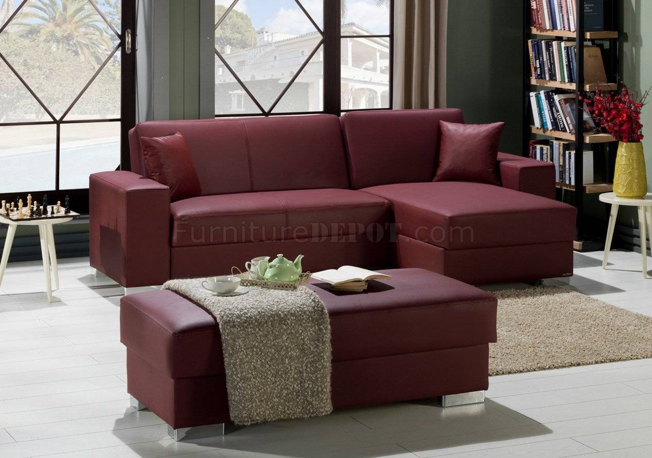Santa Glory Burgundy Modular Sectional Sofa In Pusunset with regard to Burgundy Sectional Sofas (Image 10 of 15)