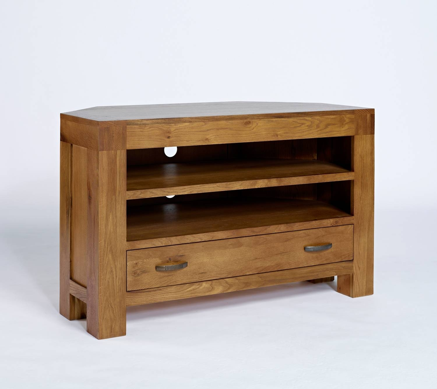 Santana Reclaimed Oak Corner Tv Unit. Shop Online Today with regard to Rustic Corner Tv Cabinets (Image 11 of 15)