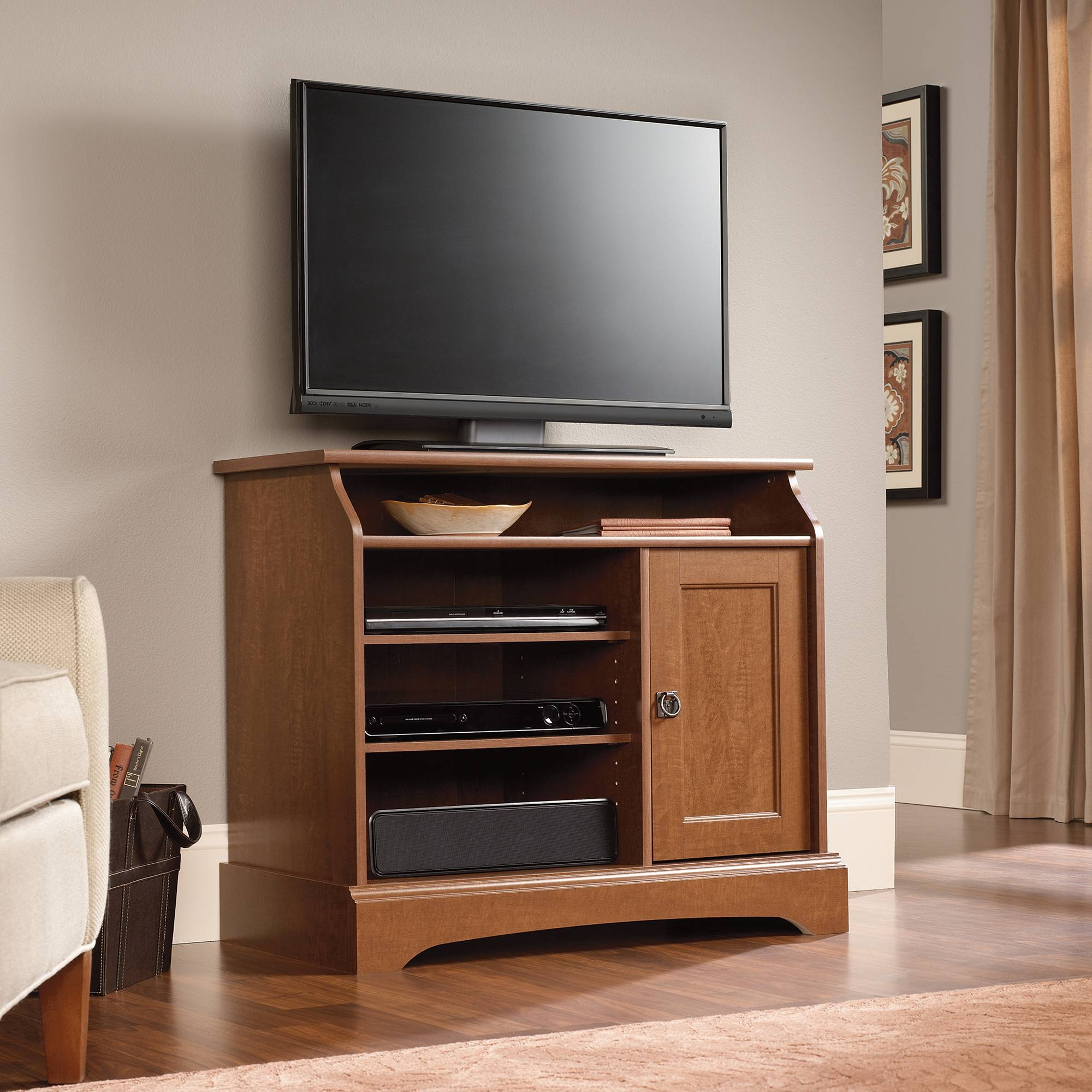 Sauder Select | Highboy Tv Stand | 408972 | Sauder in Maple Tv Stands for Flat Screens (Image 5 of 15)
