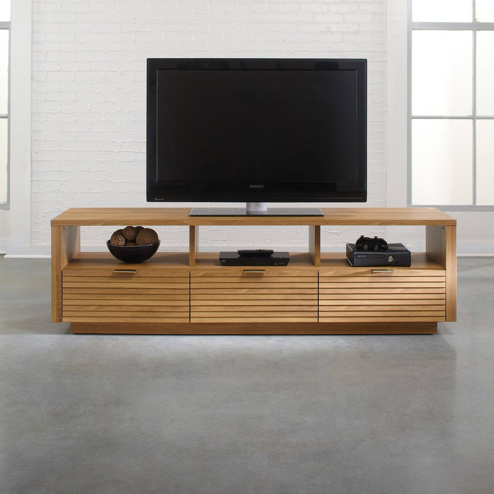 Sauder Soft Modern Entertainment Credenza - Pale Oak - Walmart with regard to Hokku Tv Stands (Image 4 of 15)