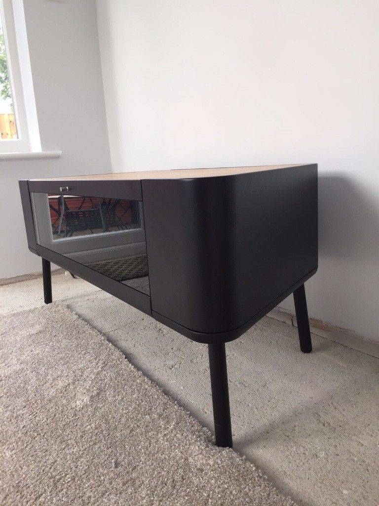 Scandinavian Style Tv Unit Tv Standstil Furniture. Satin Black pertaining to Stil Tv Stands (Image 6 of 15)