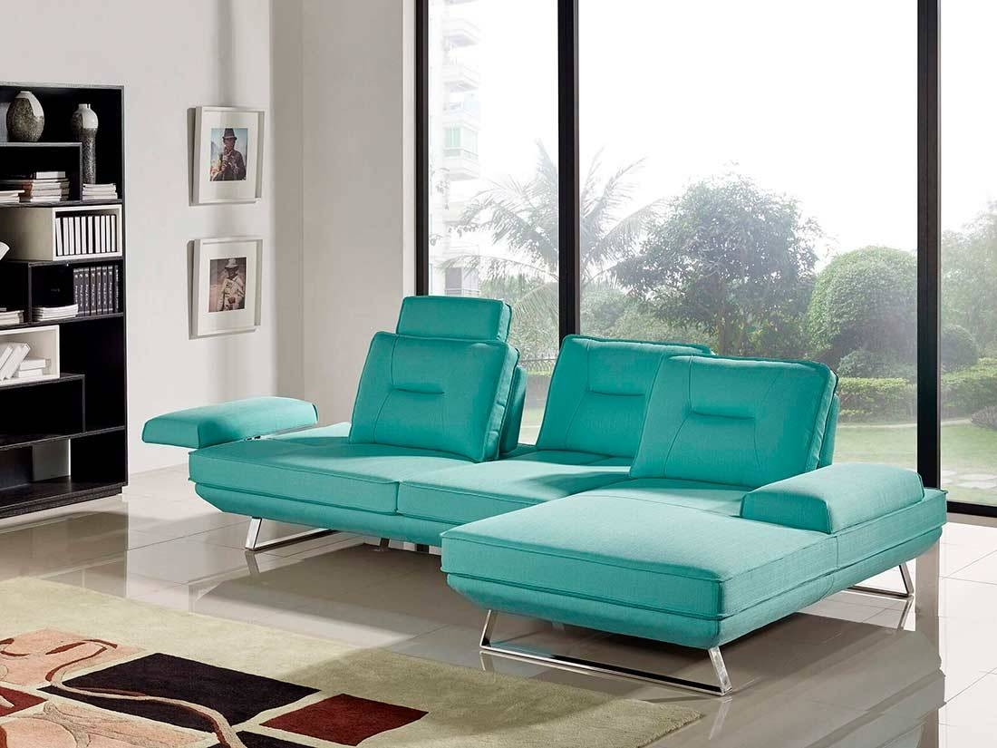 Seafoam Fabric Sectional Sofa Ds 471 | Fabric Sectional Sofas for Seafoam Sofas (Image 9 of 15)