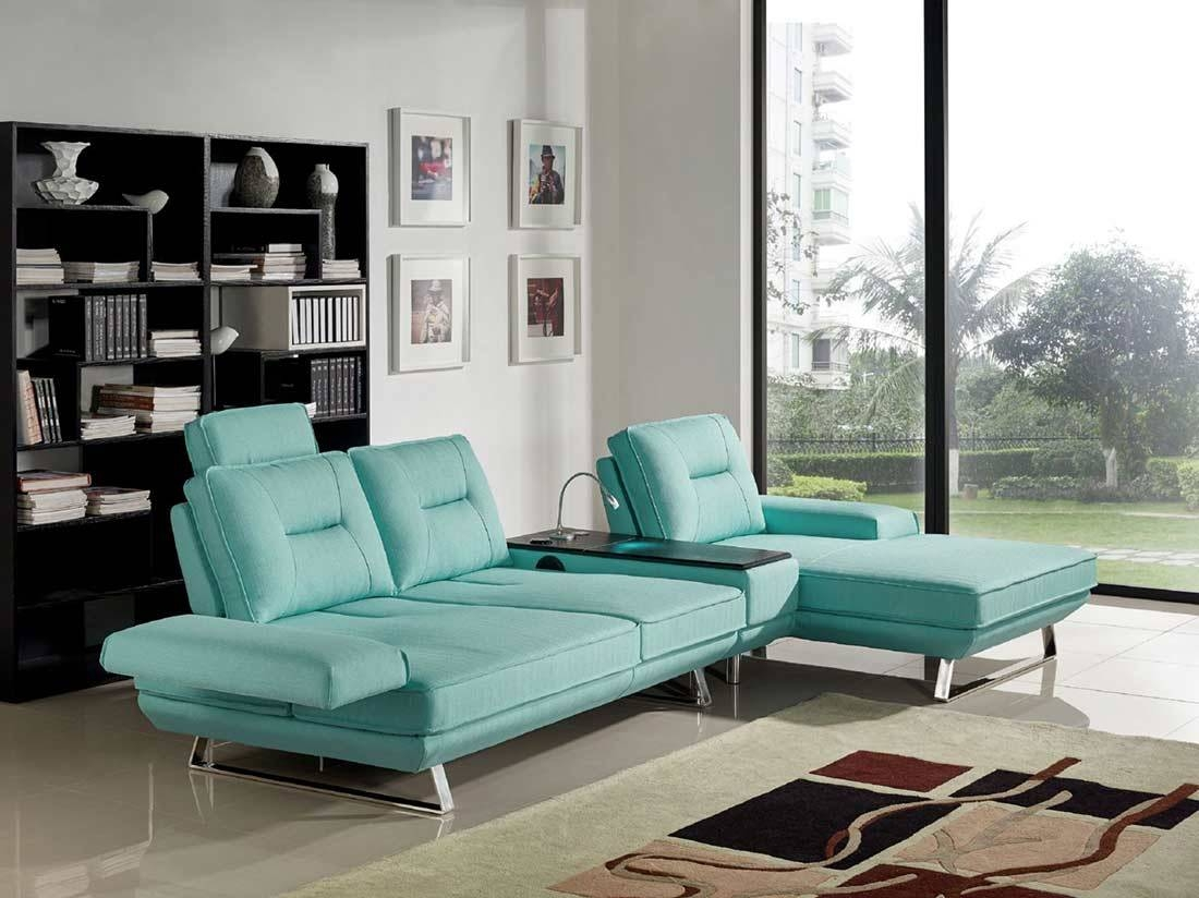 Seafoam Fabric Sectional Sofa Ds 471 | Fabric Sectional Sofas inside Seafoam Sofas (Image 10 of 15)