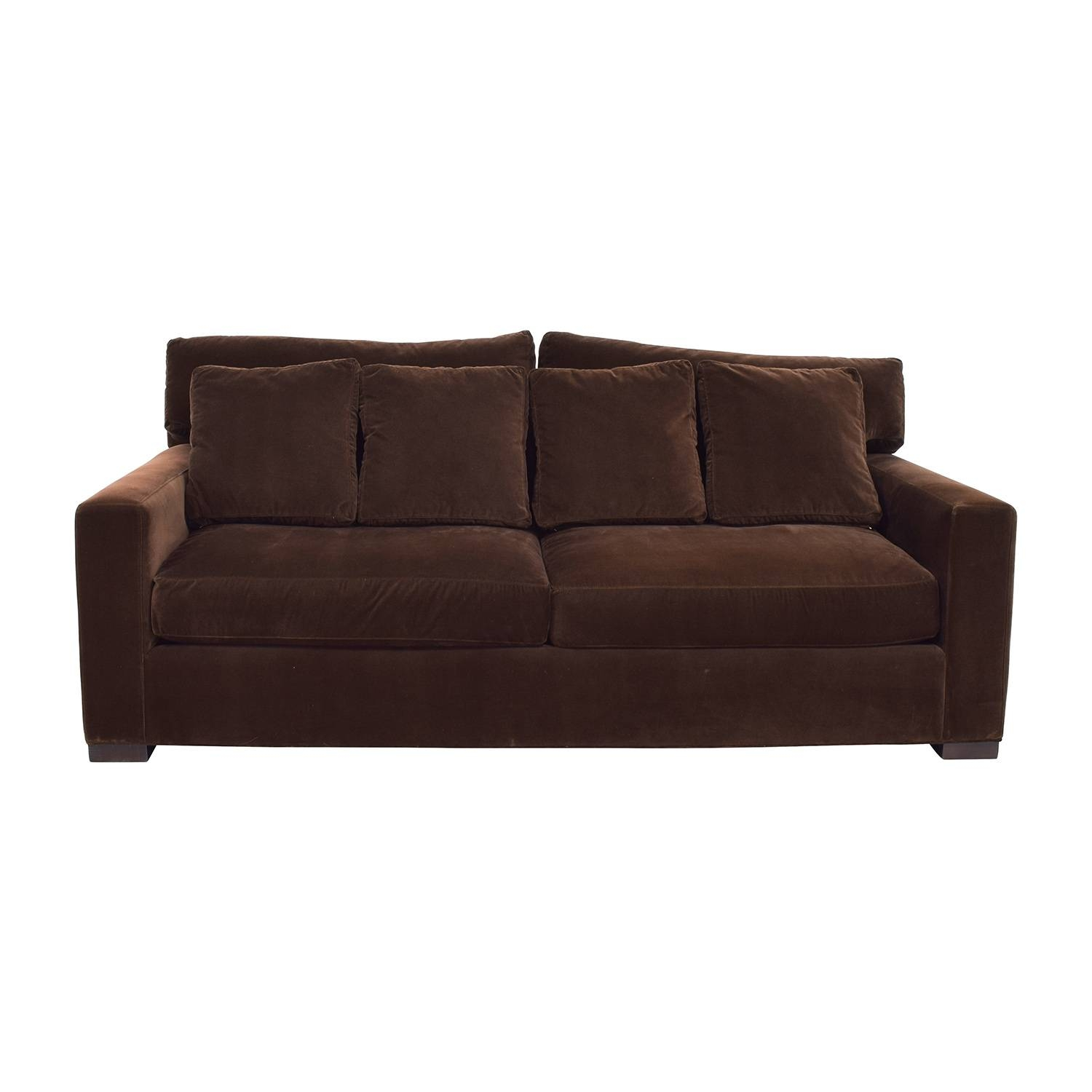 Second Hand Classic Sofas On Sale with regard to Brown Velvet Sofas (Image 10 of 15)