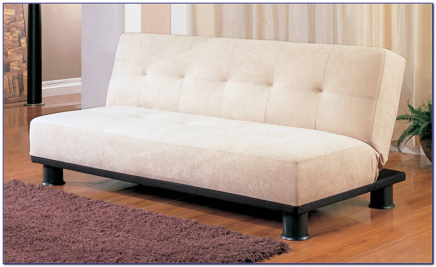 Sectional Armless Tufted Convertible Sofa Bed Castro F Home Design in Castro Convertible Sofas (Image 9 of 15)