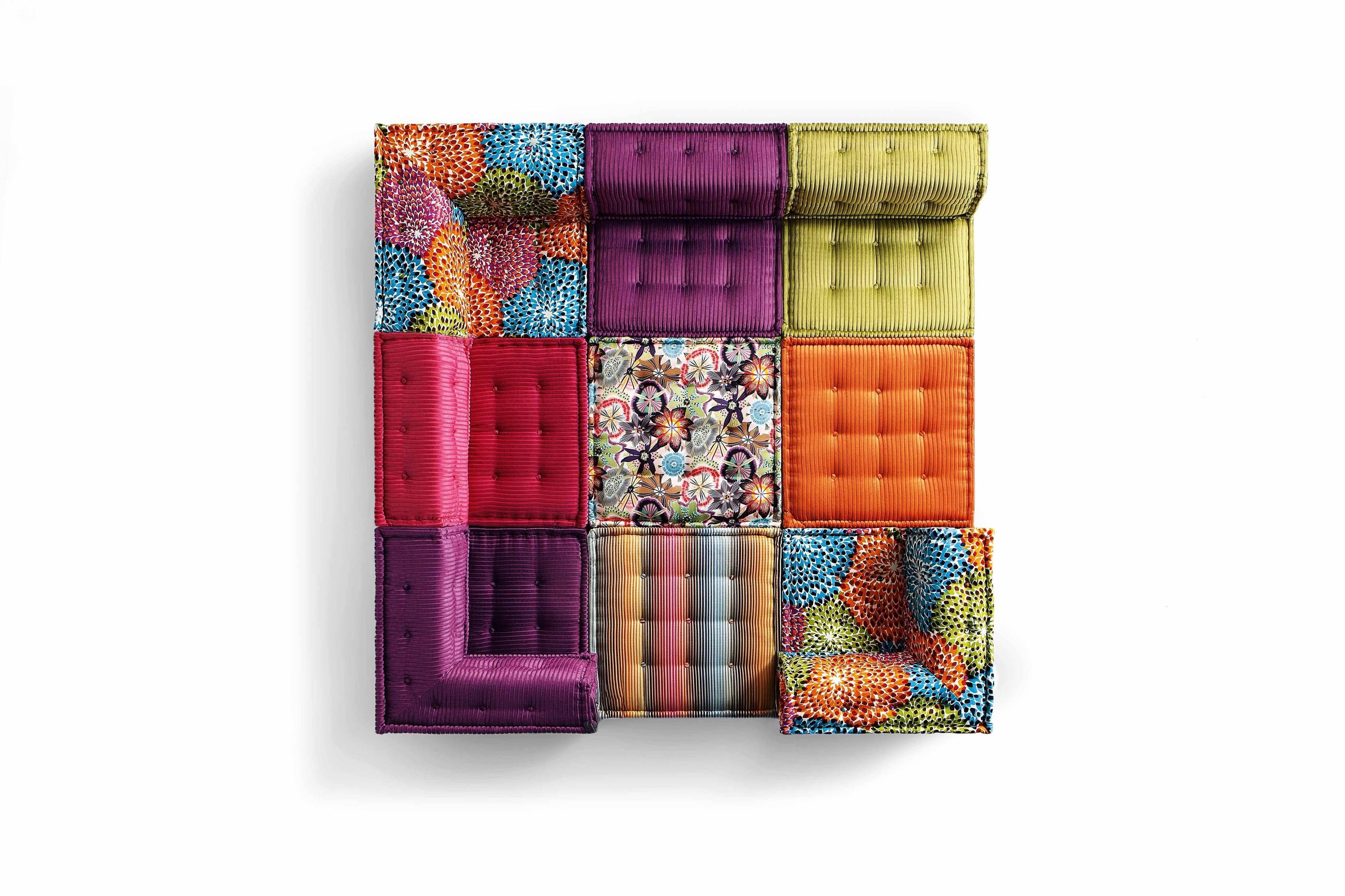 Sectional Fabric Sofa Mah Jong Missoni Homeroche Bobois Design regarding Roche Bobois Mah Jong Sofas (Image 13 of 15)