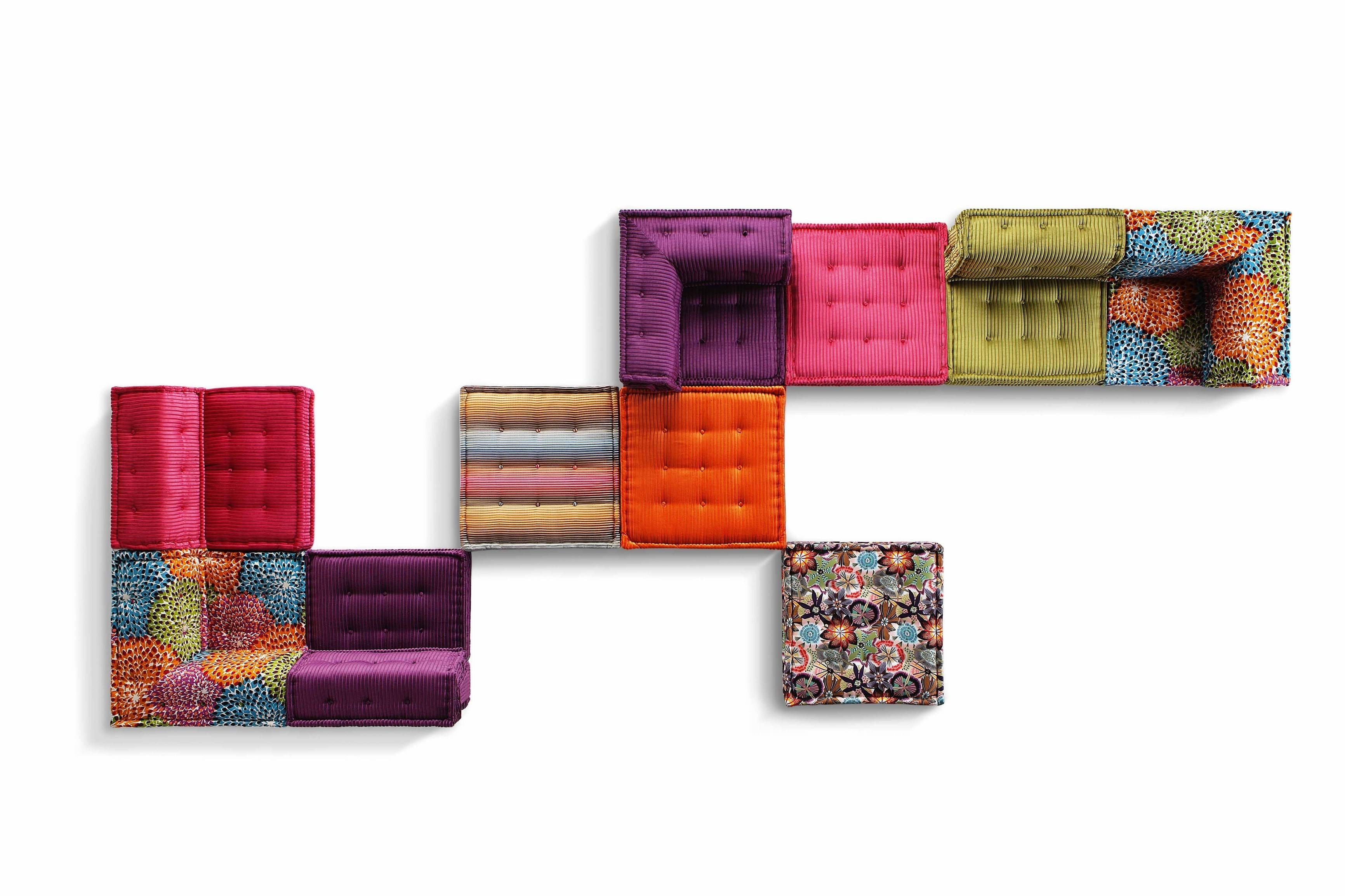 Sectional Fabric Sofa Mah Jong Missoni Homeroche Bobois Design within Roche Bobois Mah Jong Sofas (Image 14 of 15)
