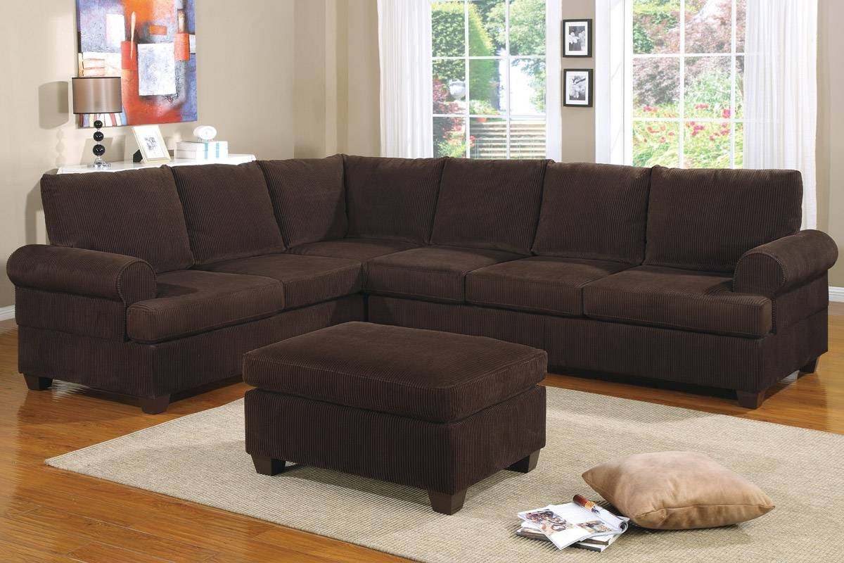 Sectional Sofa (F7133) | Bb's Furniture Store in Brown Corduroy Sofas (Image 14 of 15)