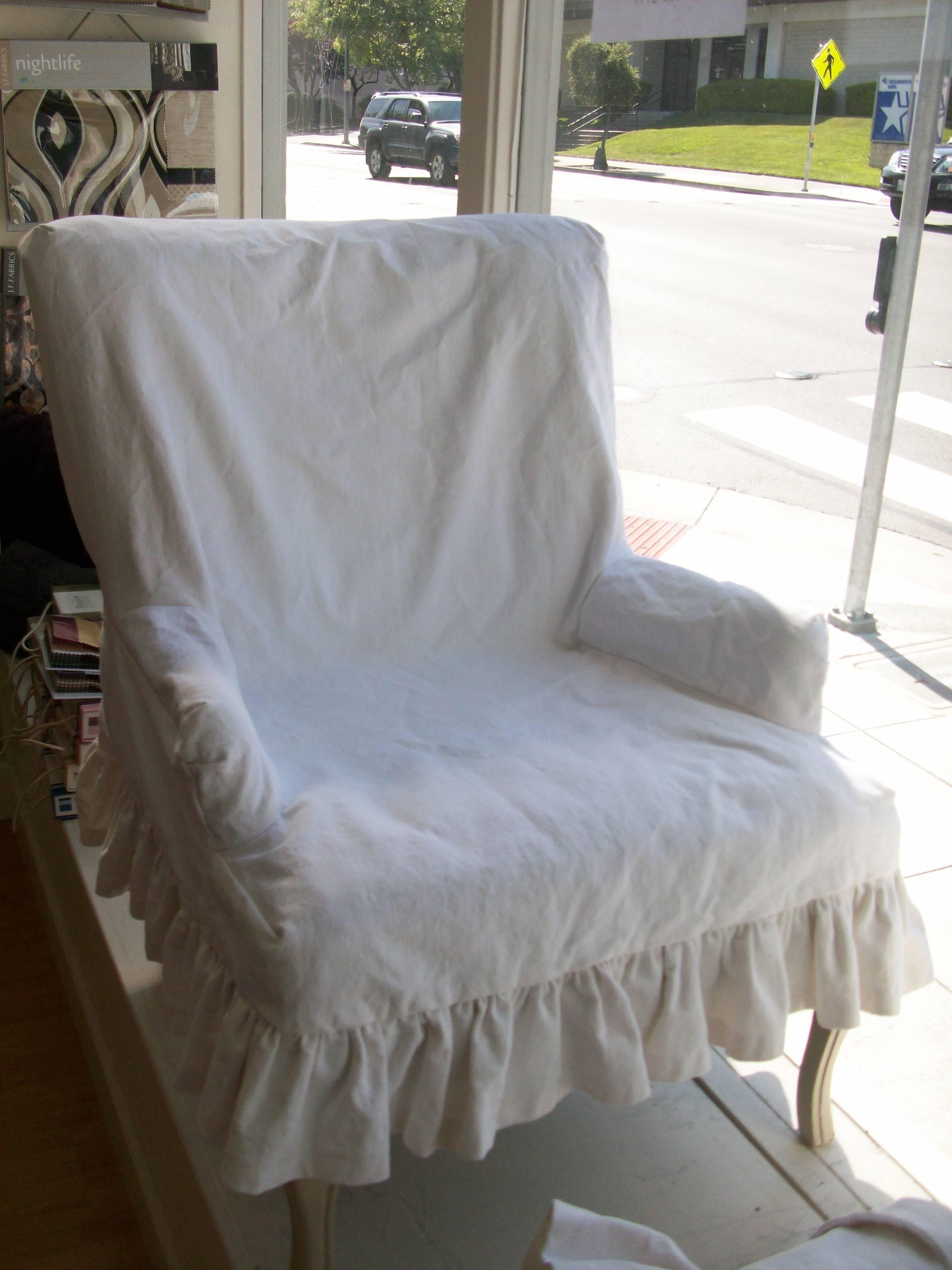 Shabby Chic Slipcover Set | Petaluma Textile & Design Within Shabby Chic Slipcovers (View 6 of 15)