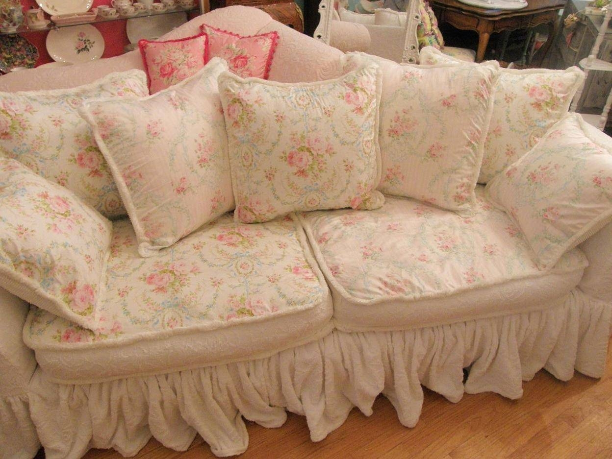 best 15 of shabby chic sofas covers. Black Bedroom Furniture Sets. Home Design Ideas
