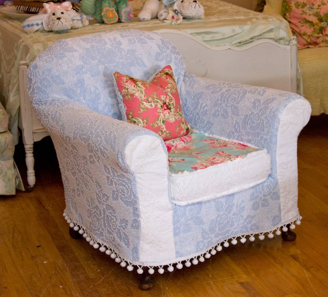 Shabby Chic Slipcovers For Wingback Chairs — Home Designing with Shabby Slipcovers (Image 11 of 15)
