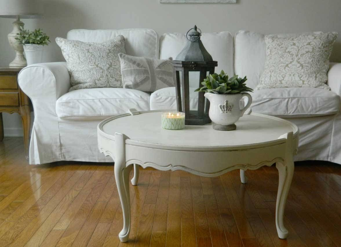 Shabby Chic Sofa Covers With White Color Ideas | Home Interior with regard to Shabby Chic Sofa Tables (Image 11 of 15)