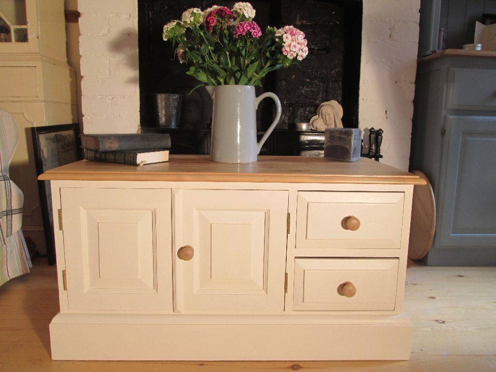 Shabby Chic Solid Pine Tv Cabinet (View 10 of 15)