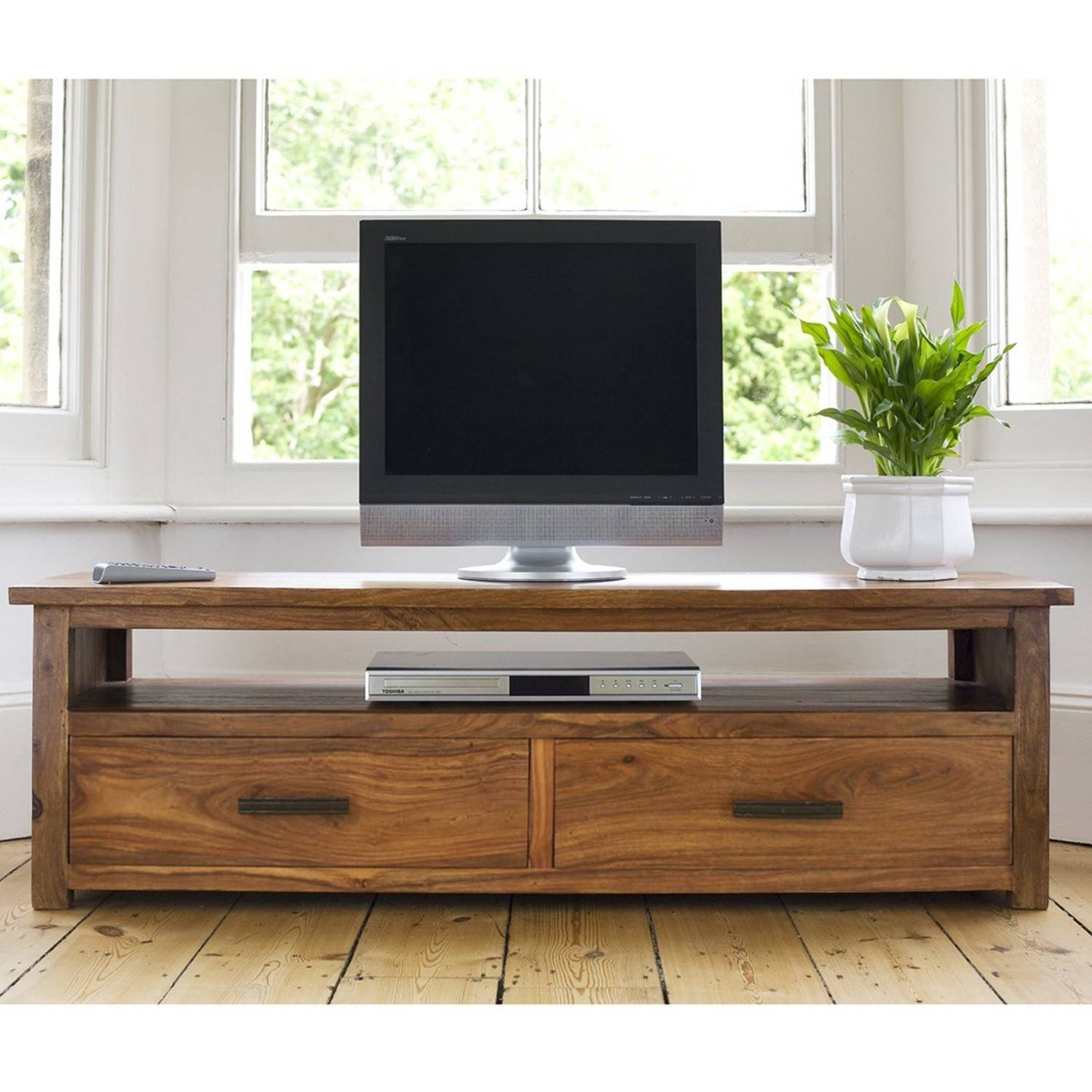 Sheesham Wood Tv Stand | The Yellow Door Store in Sheesham Tv Stands (Image 9 of 15)