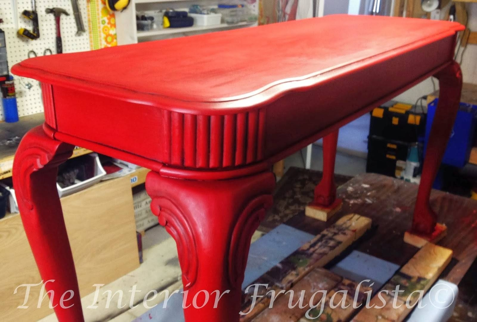 She's A Beauty! | The Interior Frugalista: She's A Beauty! pertaining to Red Sofa Tables (Image 7 of 15)