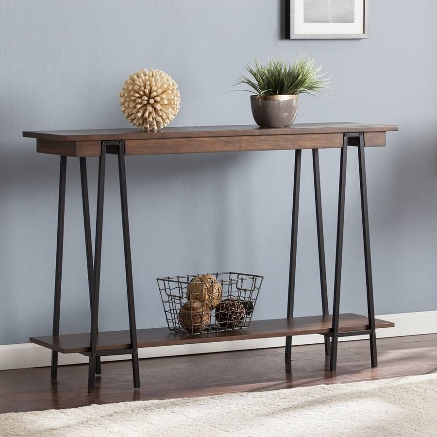 Shop Boston Loft Furnishings Yarman Ash Console Table At Lowes with Lowes Sofa Tables (Image 4 of 15)