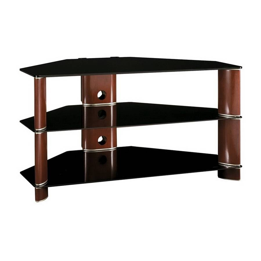 Shop Bush Furniture Segments Rosebud Cherry/bright Silver Corner pertaining to Silver Corner Tv Stands (Image 5 of 15)