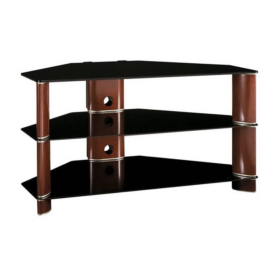 Shop Bush Furniture Segments Rosebud Cherry/bright Silver Corner Pertaining To Silver Corner Tv Stands (View 5 of 15)