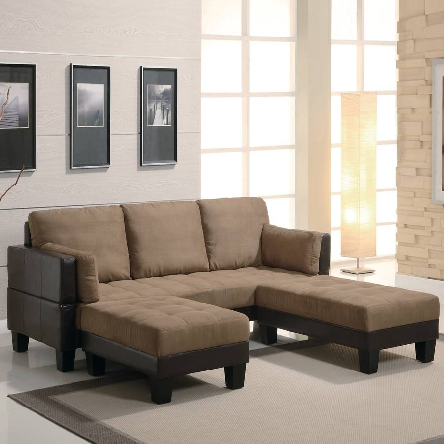 Shop Coaster Fine Furniture Tan/dark Brown Microfiber Sofa Bed At in Microsuede Sofa Beds (Image 8 of 15)