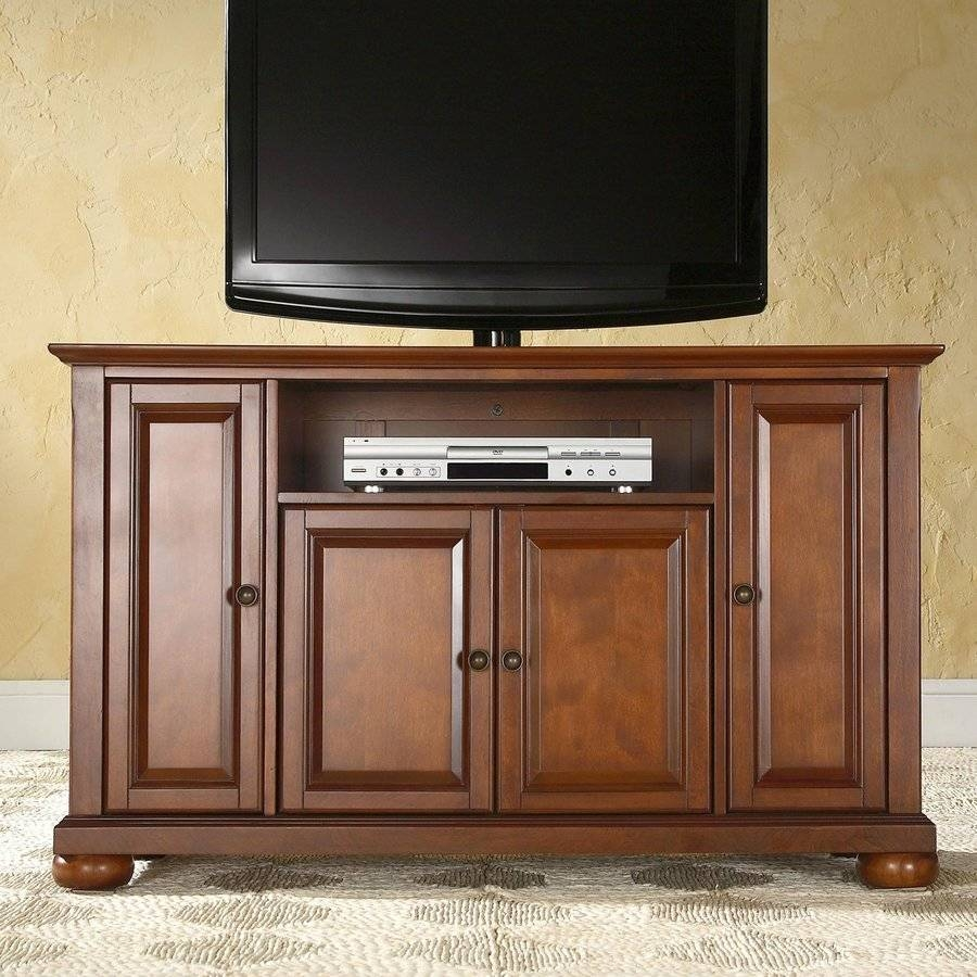 Shop Crosley Furniture Alexandria Classic Cherry Tv Cabinet At with regard to Cherry Tv Stands (Image 14 of 15)
