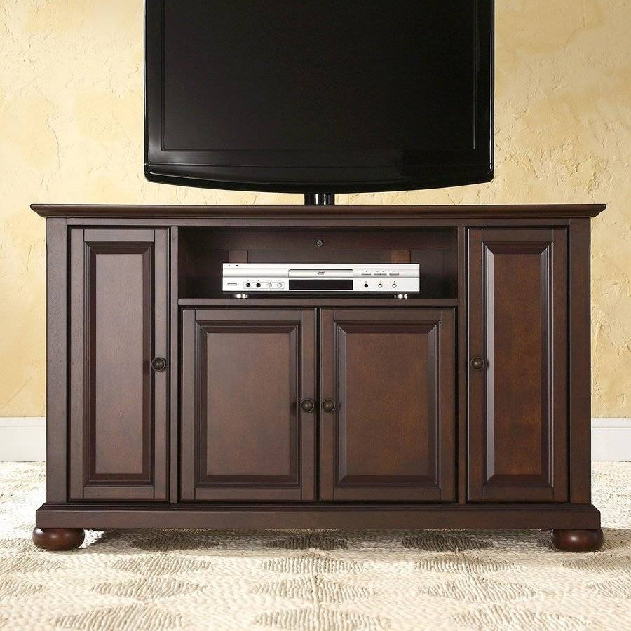 Shop Crosley Furniture Alexandria Vintage Mahogany Tv Cabinet At For Mahogany Tv Cabinets (View 6 of 15)