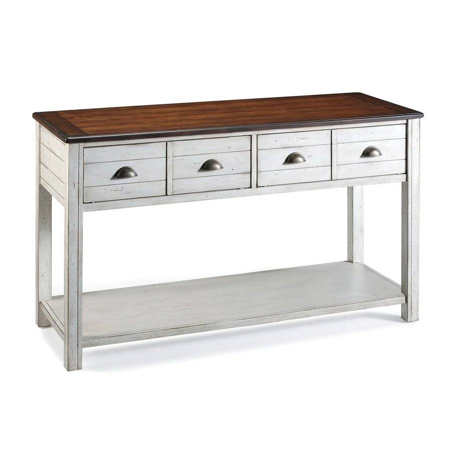 Shop Magnussen Home Bellhaven Cherry Sofa Table At Lowes with Lowes Sofa Tables (Image 10 of 15)