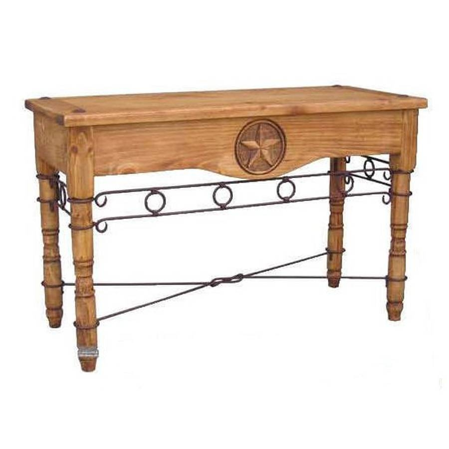 Shop Million Dollar Rustic Pine Sofa Table At Lowes regarding Lowes Sofa Tables (Image 11 of 15)