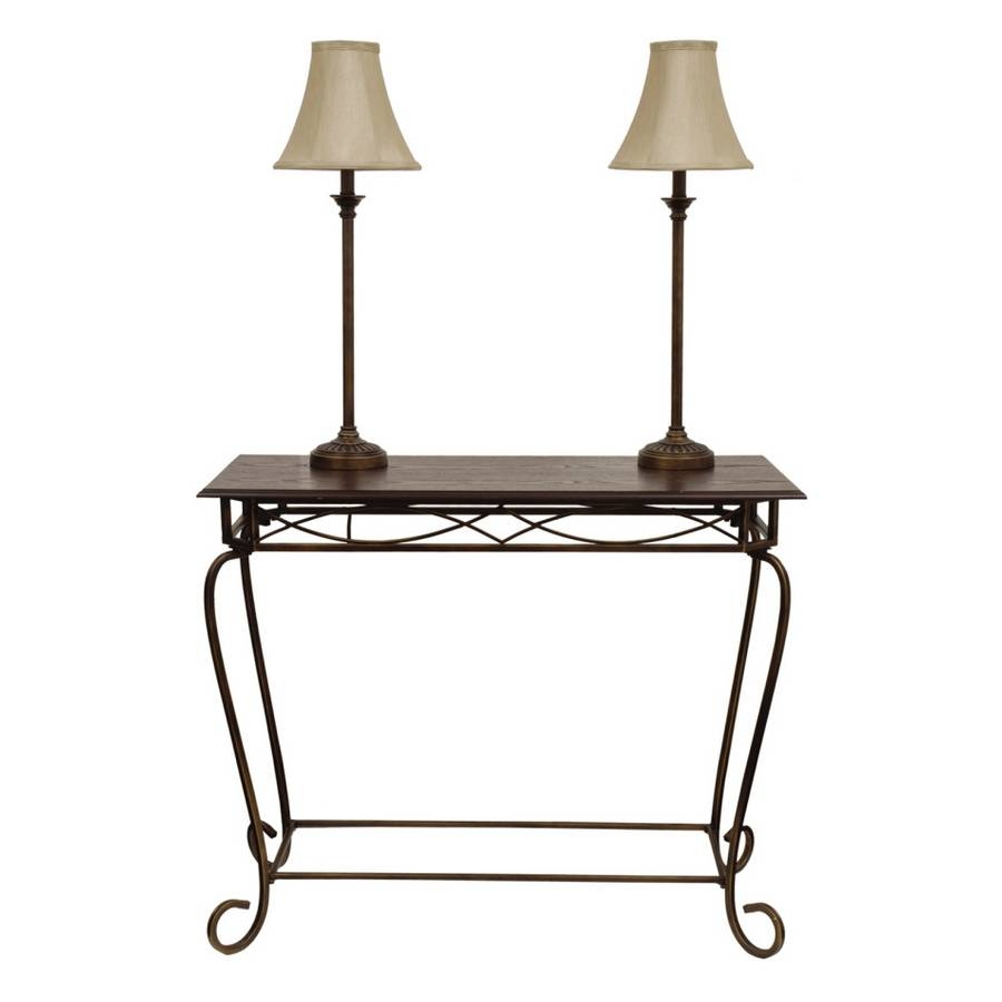 "Shop Style Selections 3-Piece 29-1/4"" Wood/bronze Sofa Table With inside Lowes Sofa Tables (Image 13 of 15)"