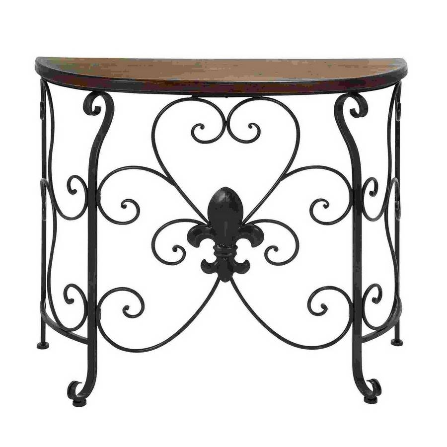 Shop Woodland Imports Metal Half-Round Console And Sofa Table At with regard to Lowes Sofa Tables (Image 15 of 15)