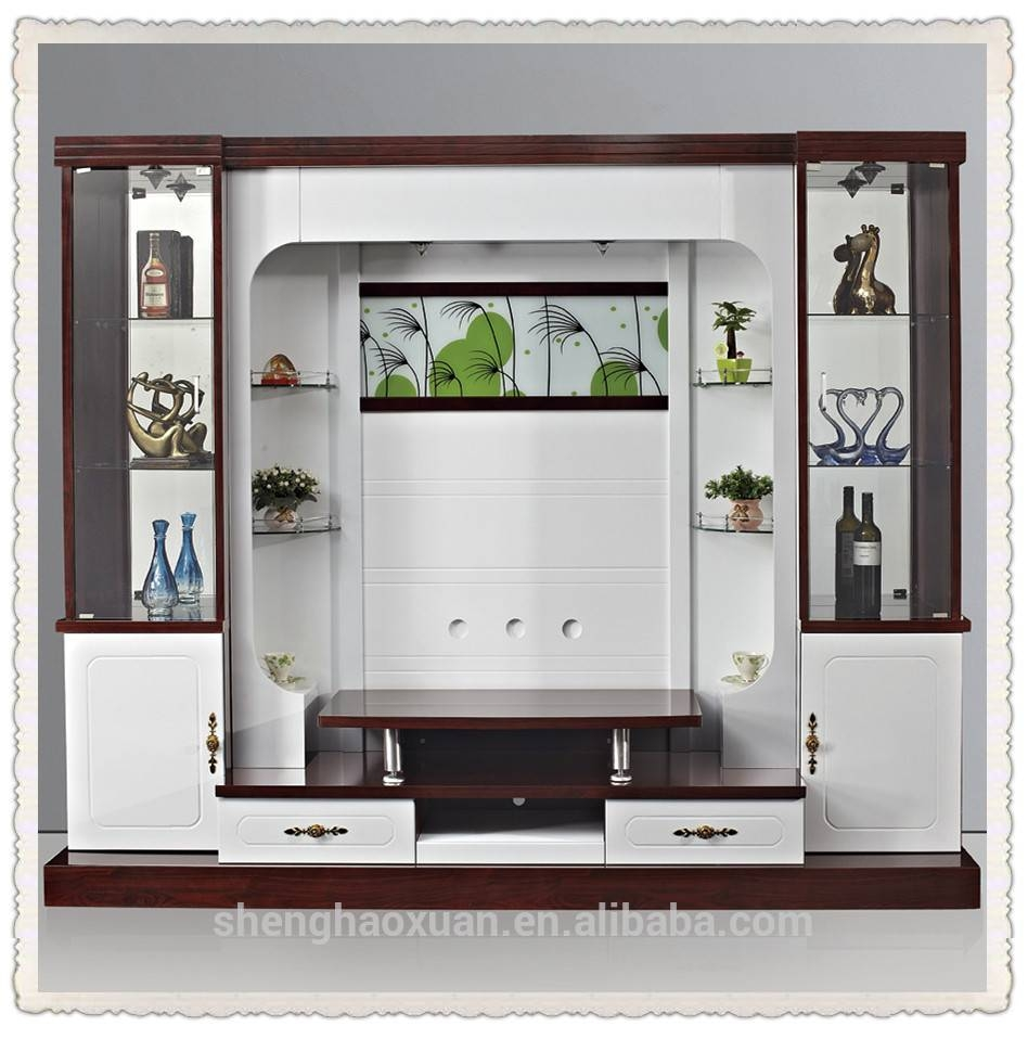 Shx Design Living Room Tv Set Furniture 9905# Led Tv Wall Units Inside Modern Lcd Tv Cases (View 14 of 15)