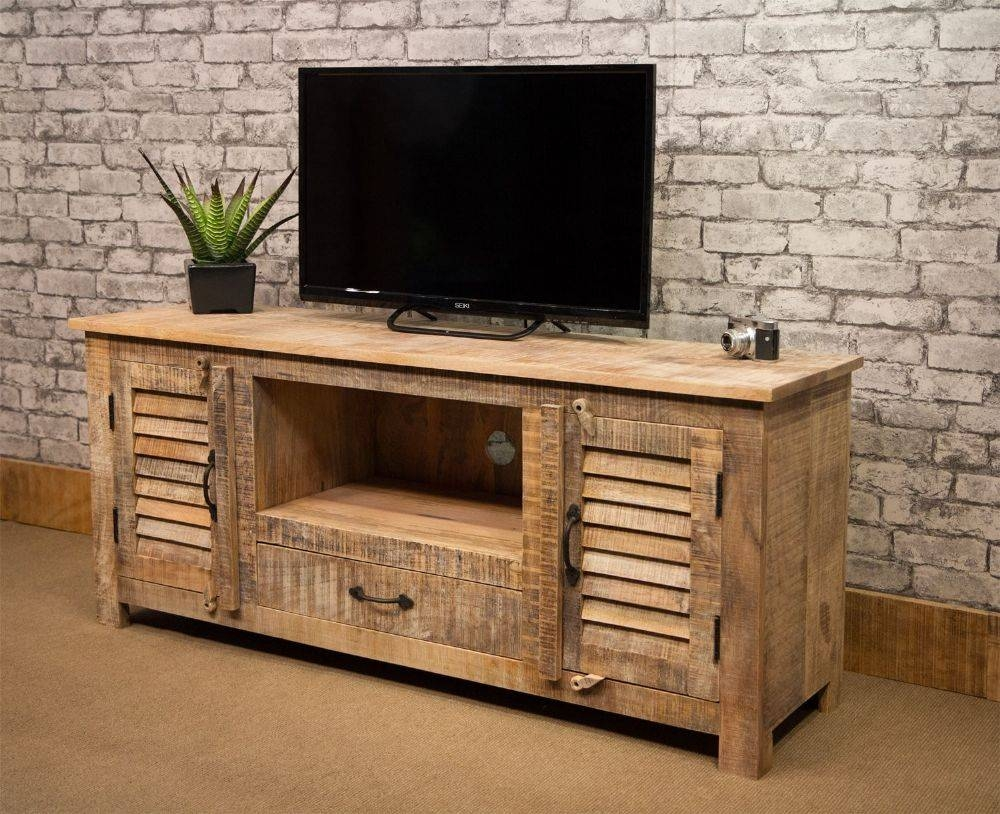 Si 518 Long Tv Cabinet – Natural Mango Wood Finish With Regard To Mango Wood Tv Cabinets (View 15 of 15)