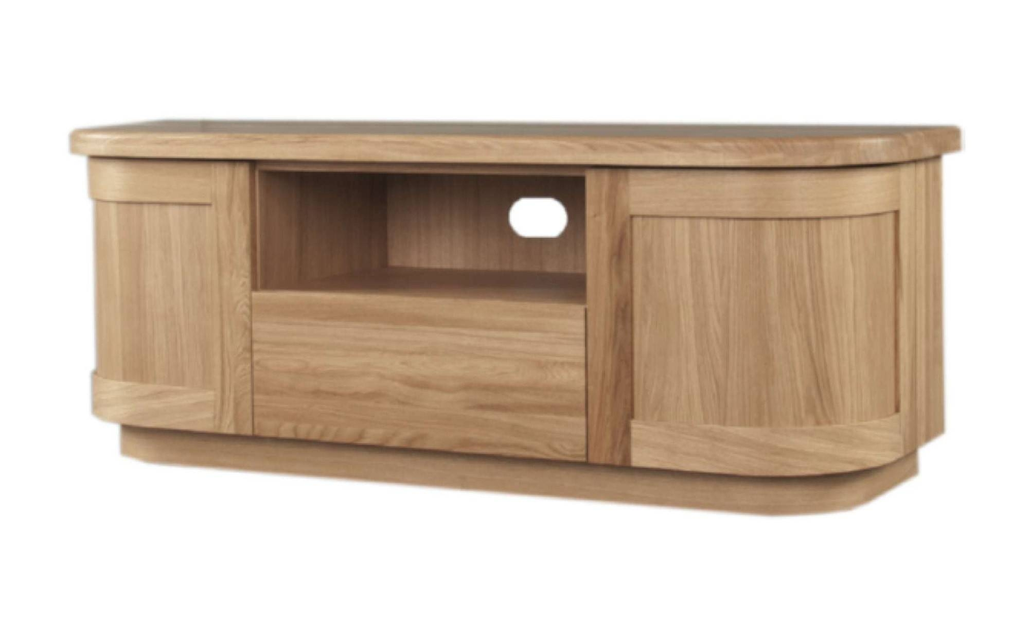 Sicily Solid Oak Tv Unit | Ice Interiors pertaining to Oak Tv Cabinets With Doors (Image 13 of 15)
