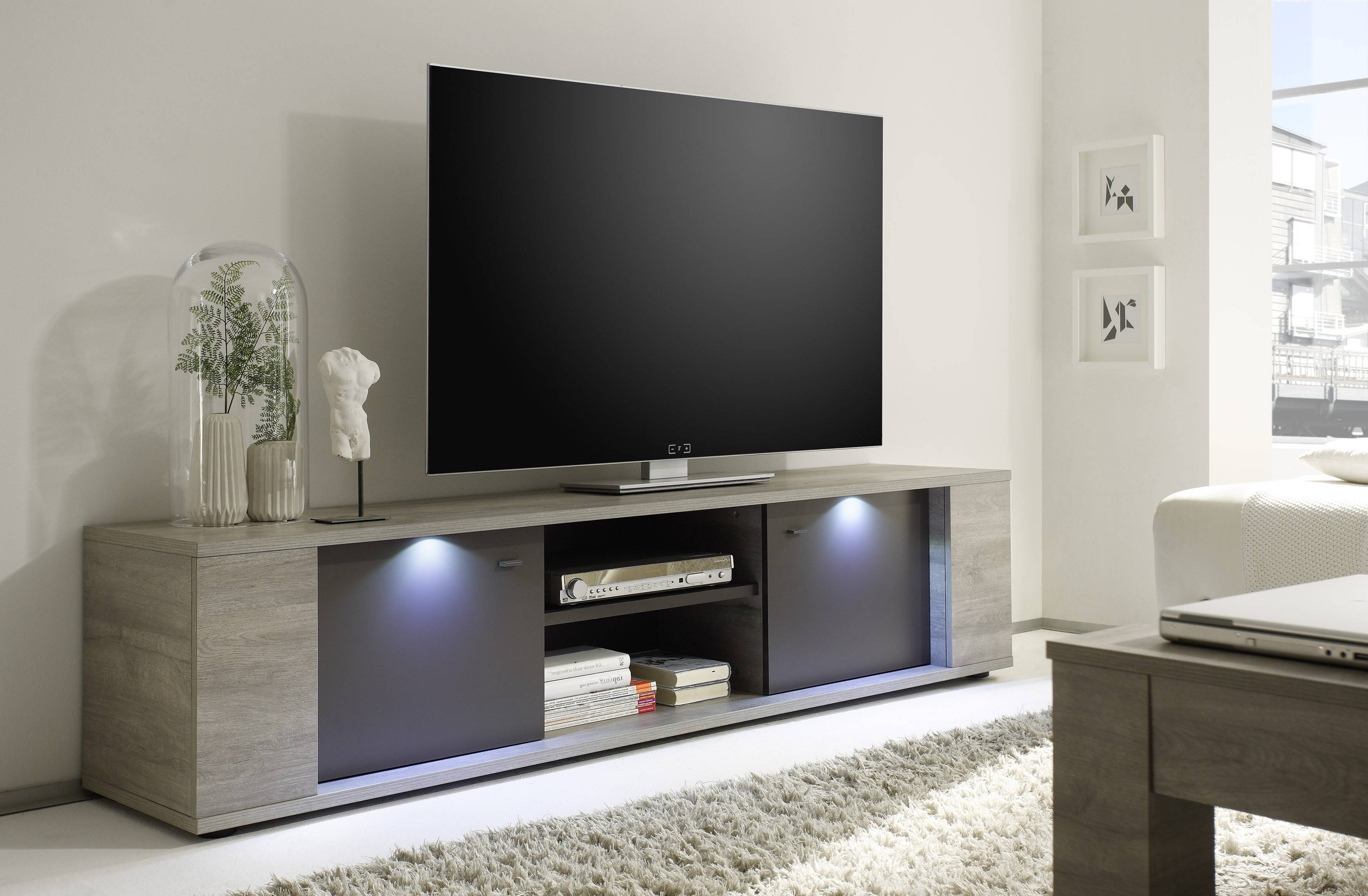 Sidney Big Tv Stand Buy Online At Best Price - Sohomod with Big Tv Stands Furniture (Image 9 of 15)