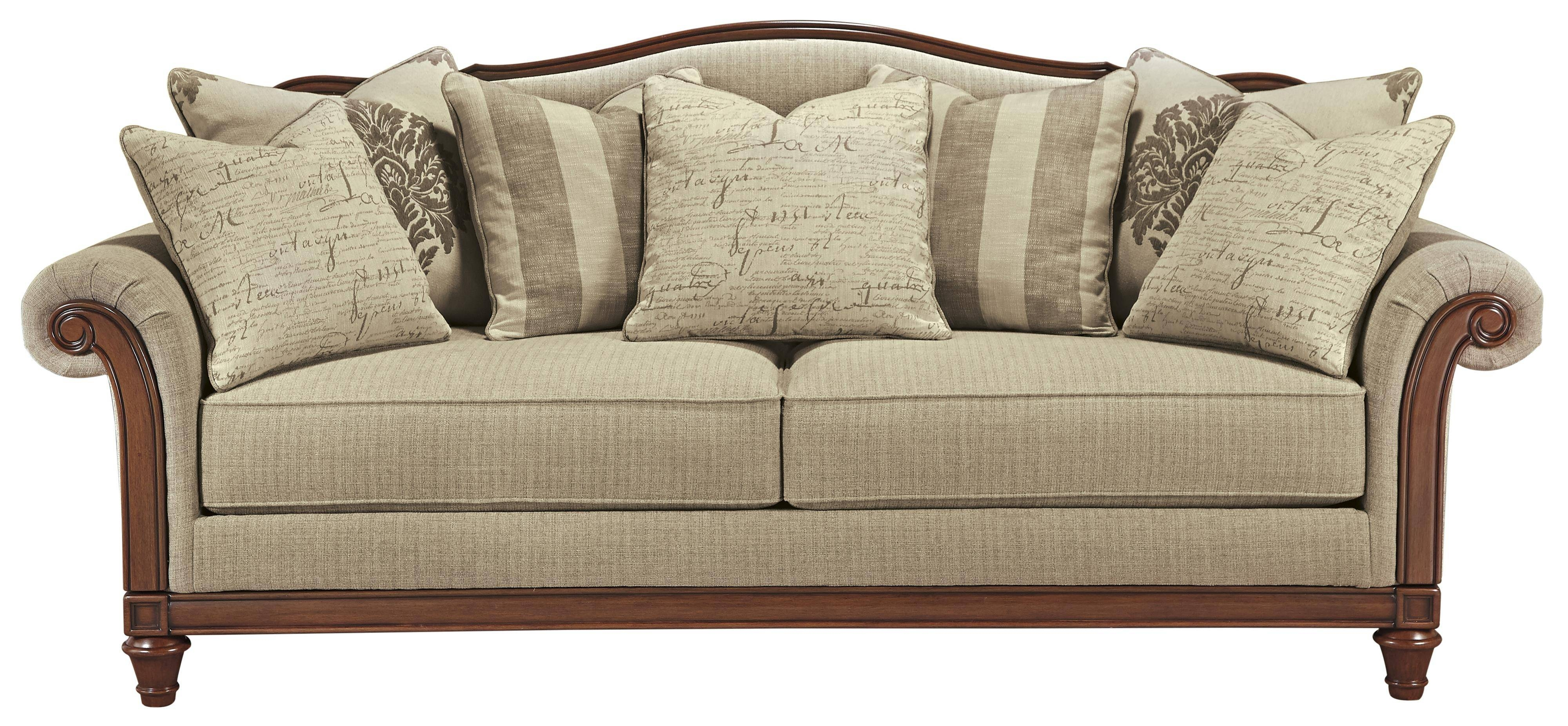 Signature Designashley Berwyn View Transitional Sofa With for Camel Color Sofas (Image 14 of 15)