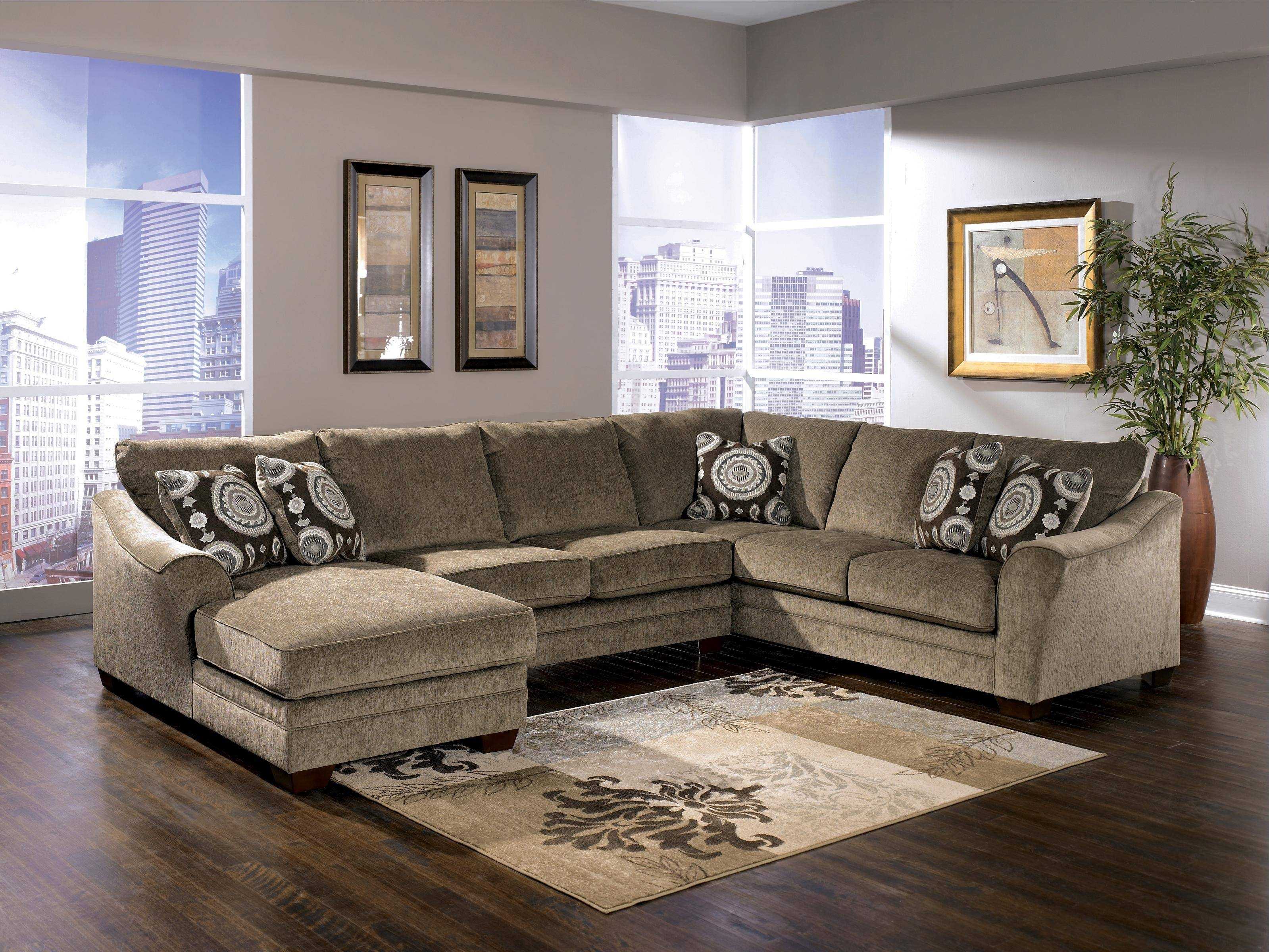 Signature Designashley Cosmo - Marble Sectional Sofa With with regard to Signature Design Sectional Sofas (Image 10 of 15)
