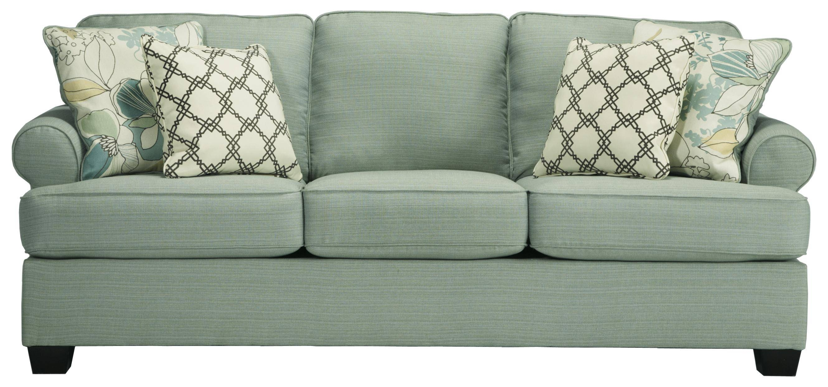 Signature Designashley Daystar - Seafoam Contemporary Sofa with regard to Seafoam Green Sofas (Image 10 of 15)