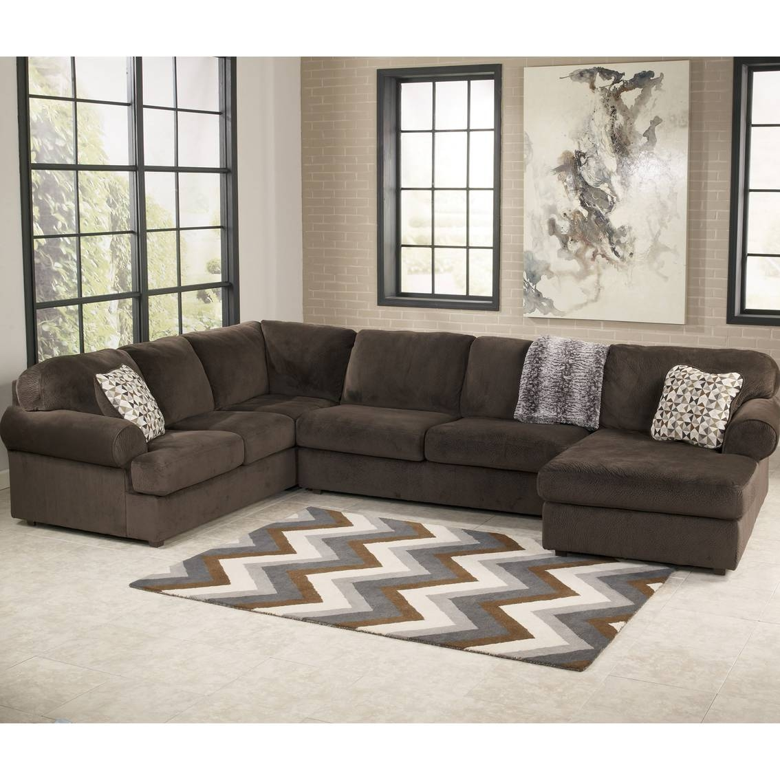 Signature Designashley Jessa Place 3 Pc. Sectional Sofa in Ashley Furniture Leather Sectional Sofas (Image 14 of 15)