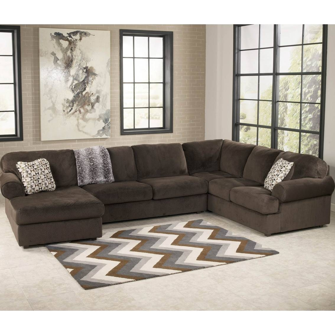 Signature Designashley Jessa Place 3 Pc. Sectional Sofa within Signature Design Sectional Sofas (Image 14 of 15)