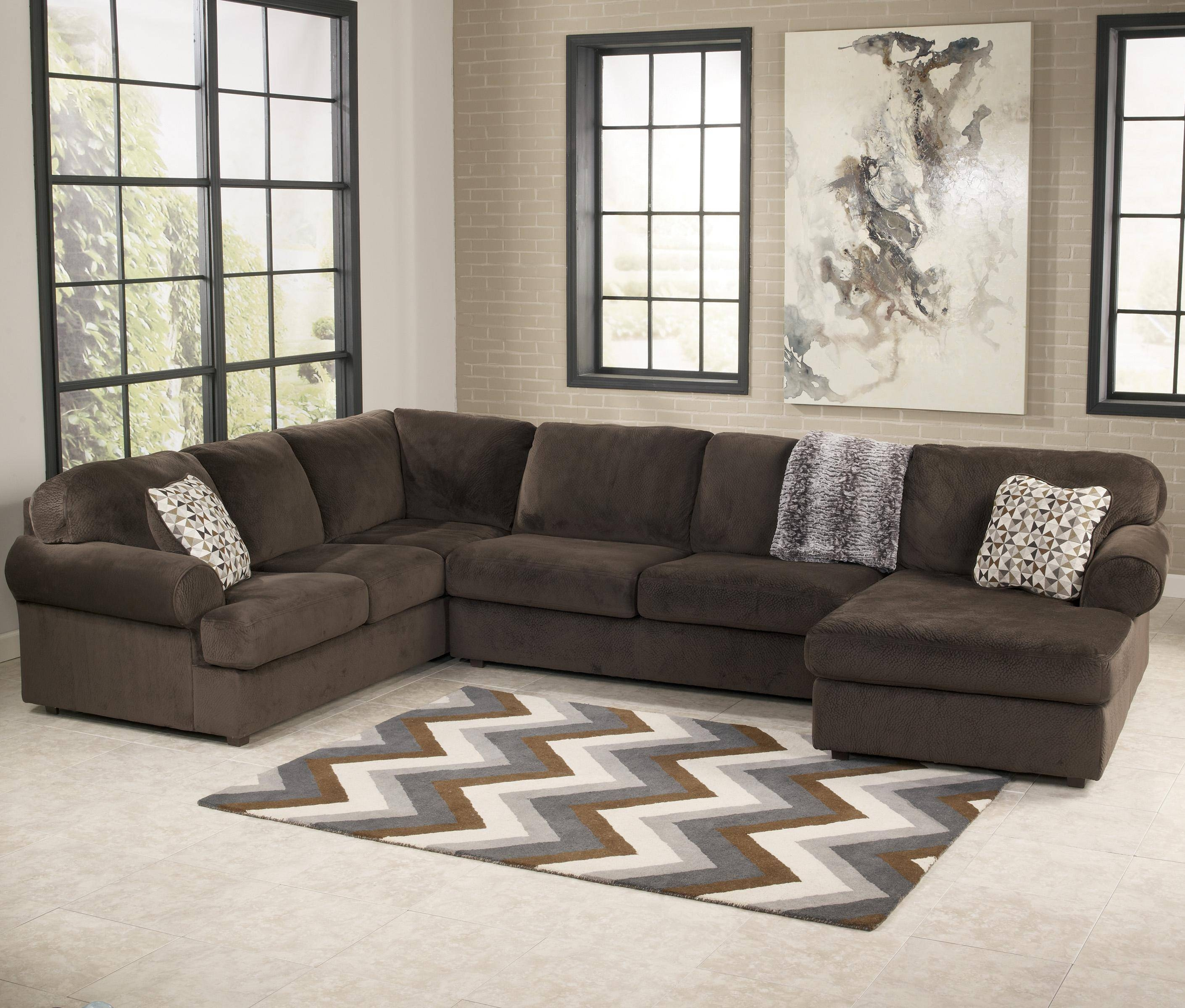 Signature Designashley Jessa Place - Chocolate Casual for Signature Design Sectional Sofas (Image 12 of 15)