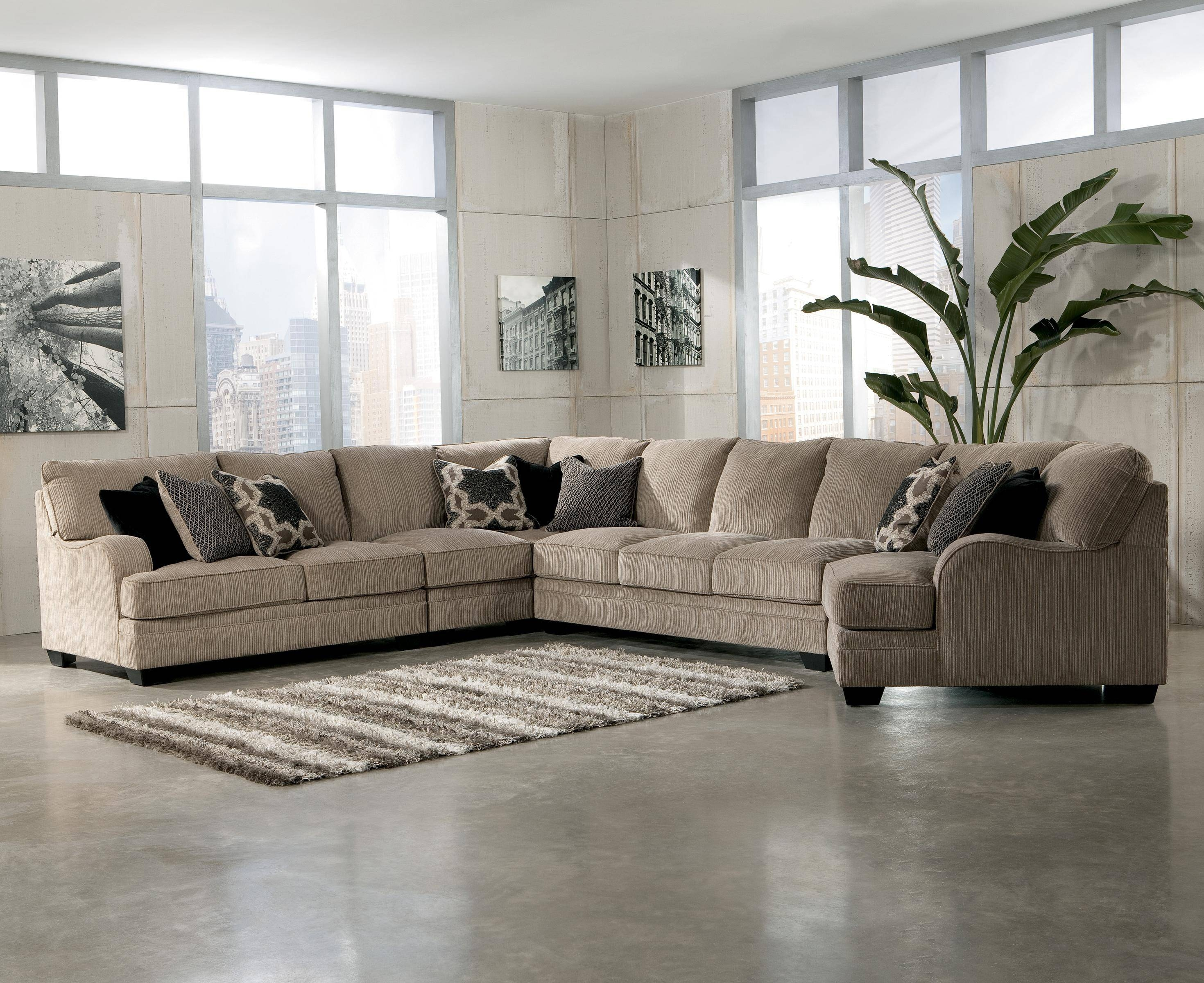 Signature Designashley Katisha - Platinum 5-Piece Sectional in Signature Design Sectional Sofas (Image 15 of 15)
