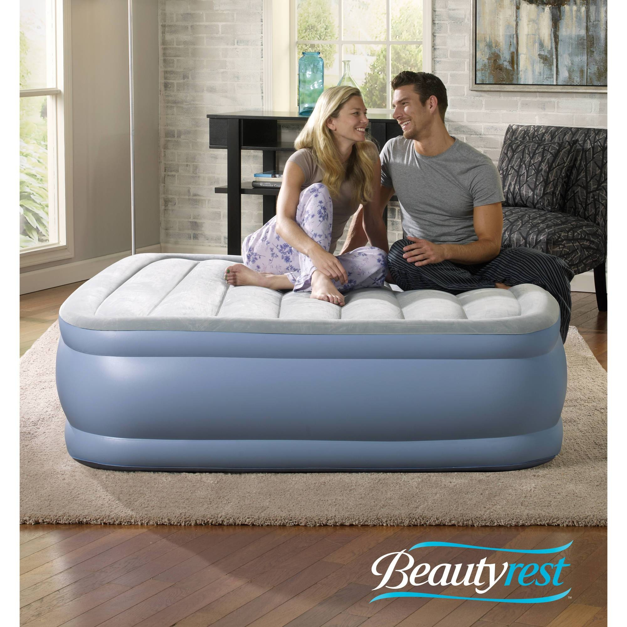 Simmons Beautyrest Hi Loft Raised Air Bed Mattress With Express intended for Inflatable Full Size Mattress (Image 14 of 15)