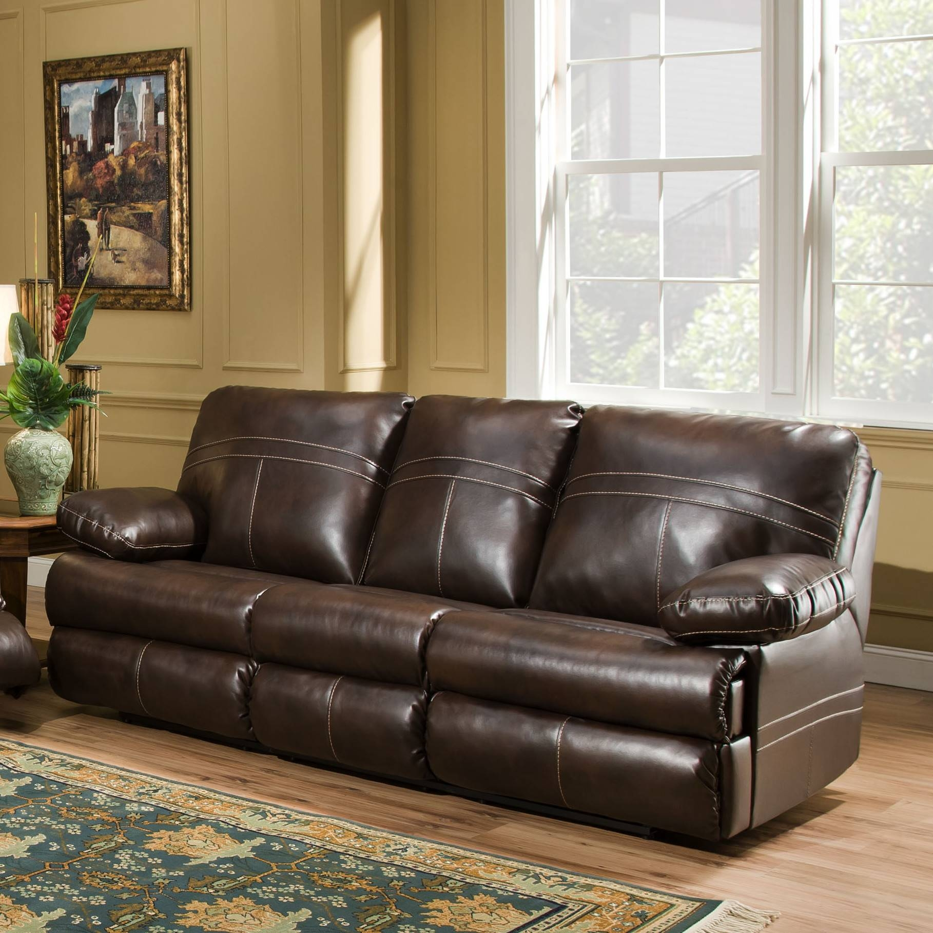 Simmons Miracle Brown Leather Sectional | Furniture And Interior for Simmons Sofas And Loveseats (Image 13 of 15)
