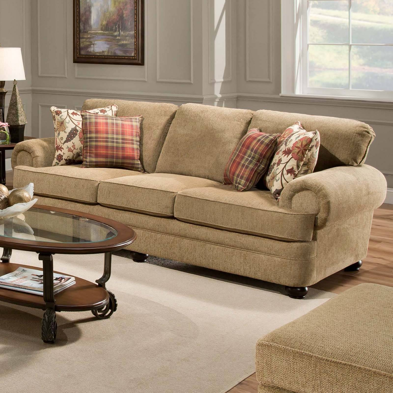 Simmons Upholstery Outback Chocolate Sofa Set | Hayneedle pertaining to Simmons Sofas (Image 12 of 15)