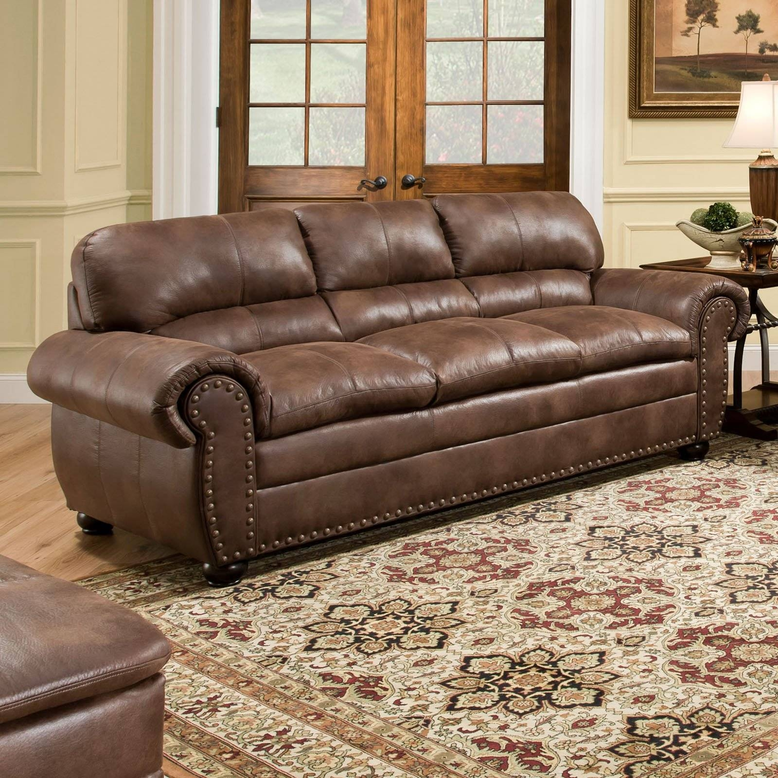 Simmons Upholstery Padre Sofa - Espresso | Hayneedle with regard to Simmons Sofas (Image 13 of 15)