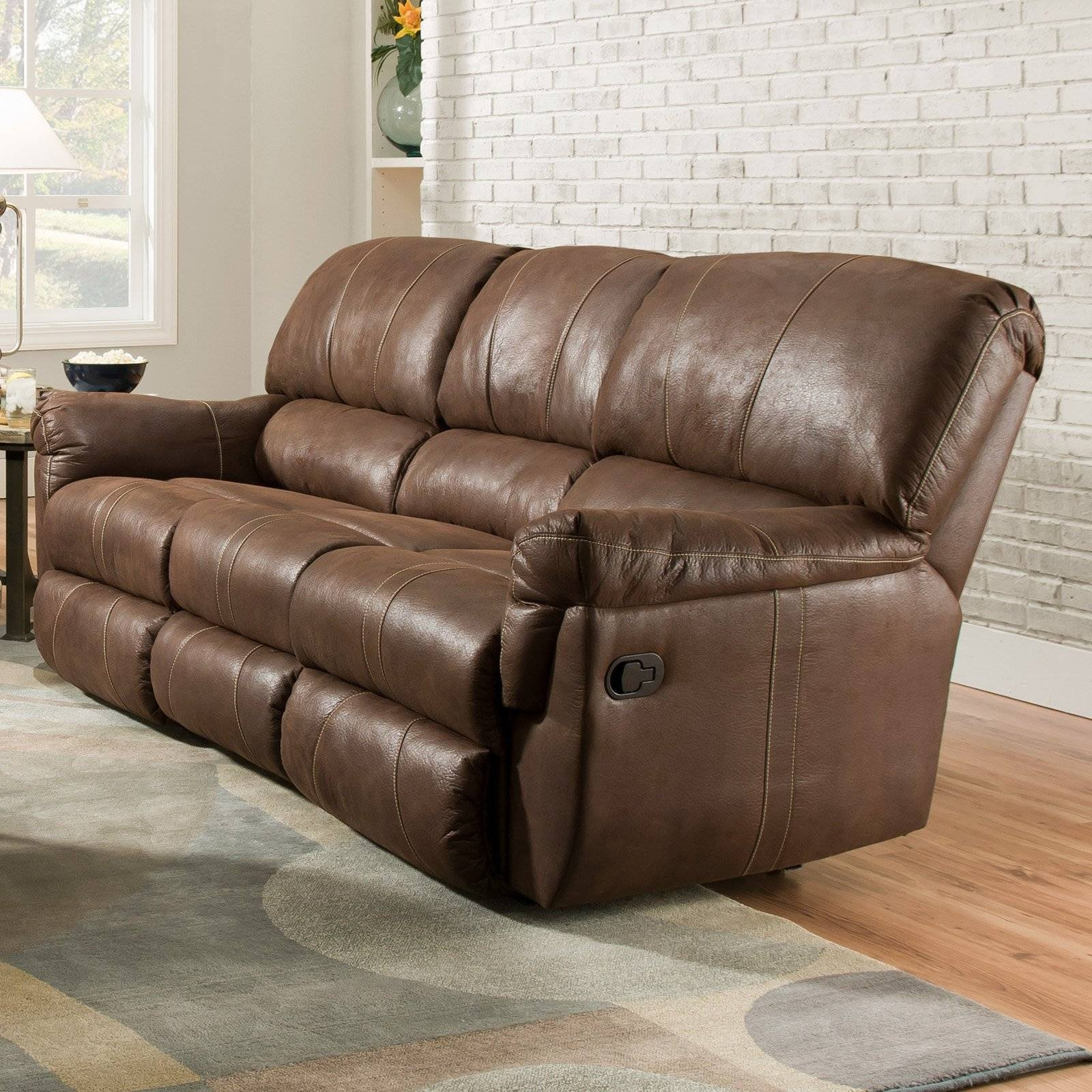 Simmons Upholstery Renegade Beautyrest Sofa - Mocha - Walmart inside Simmons Leather Sofas (Image 14 of 15)